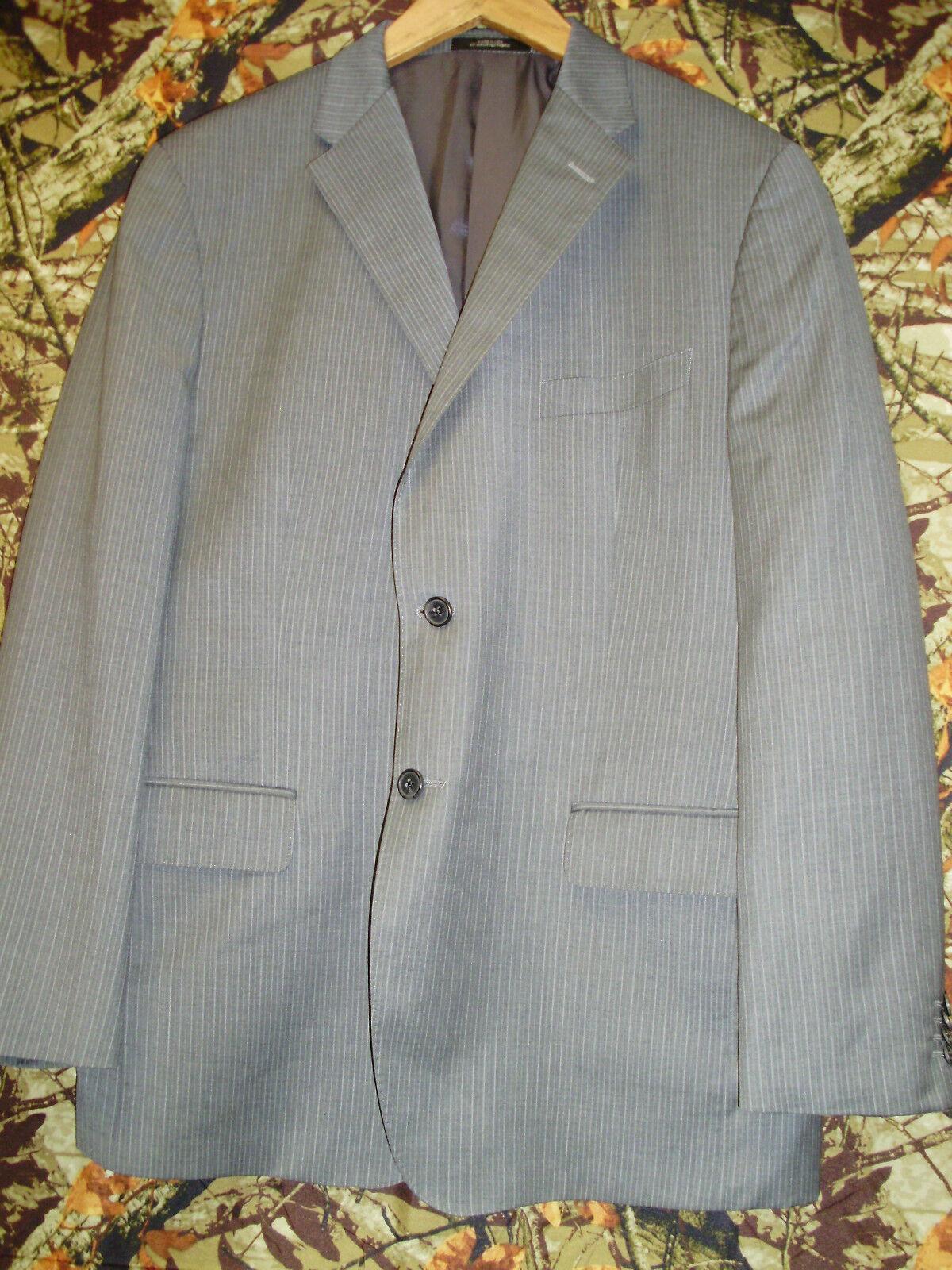 Recent Ermenegildo Zegna grau Pinstripe Wool Silk Blend 2 Button Sport Coat 44R