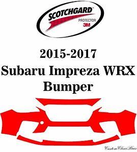 3M Scotchgard Paint Protection Film Fits 2015 2016 2017 Subaru Impreza WRX