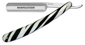 Alte Berufe Sinnvoll Razolution Solingen Rasiermesser 5/8 Carbonstahl Zebra Look Made In Germany