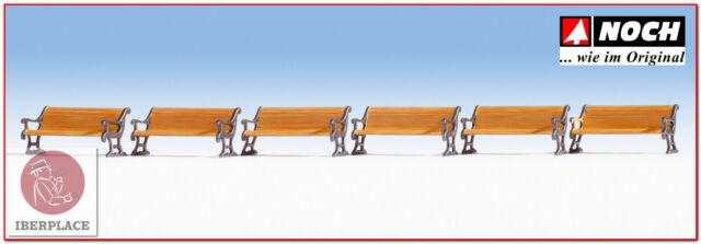H0 escala 1:87 ho figuras modelismo maqueta trenes Noch 14849 bancos bancs bench