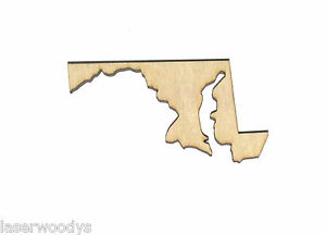State-of-Maryland-Unfinished-Wood-Shape-Cut-Out-SM8503-Crafts-Lindahl-Woodcrafts