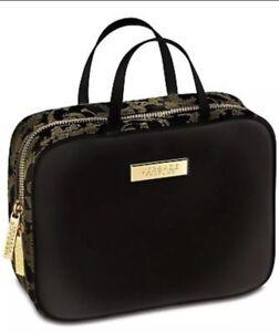 Details about Versace Parfums Black Gold Pouch Brush Makeup Organiser Travel Bag Limited Ed