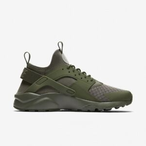 new styles 930cc 9a05c Details about Size 14 Nike Men Air Huarache Ultra Shoes 819685 204 Olive  Triple Green