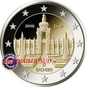 2-Euro-Commemorative-Allemagne-2016-Palais-Zwinger-a-Dresde