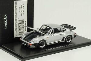 1988-PORSCHE-911-930-Turbo-3-3-openable-BONNET-REAR-lid-ARGENTO-1-43-KYOSHO