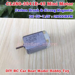 DC 3V~6V 24000RPM High Speed Mini 280 DC Motor Magnetic Carbon Brush for Toy Car