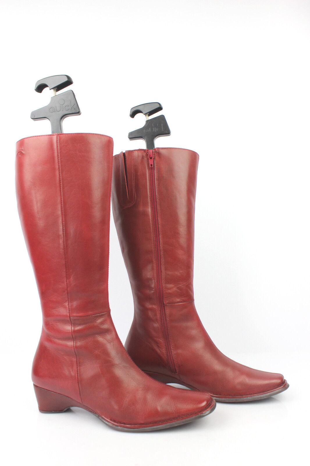 Boots Pikolinos Leather Burgundy Red T 37 Very Good Condition