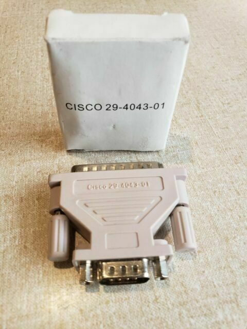 Cisco 29-4043-01 DB25 Male to DB9 Male Modem Adapter NEW GENUINE