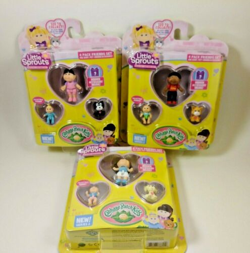 3 pack of Cabbage Patch Kids Little Sprouts Friends 4 Pack Series 2 set 1