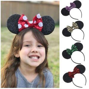 Bowknot-Hairband-Maus-Ohren-Kind-Kopfbedeckung-Baby-Stirnband-Haar-Band