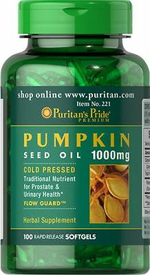 Pumpkin Seed Oil 1000 mg x 100 Softgels