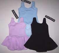 Danshuz Leotard Dress Tank Semi-sheer Skirt Blue Black Purple Cute Girl