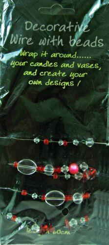 Joyas velas Jarrones 6 Colores longitudes de 60CM Cuentas De Cristal Decorativo Con Cable