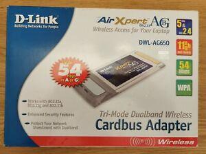 D-LINK-PCMCIA-TRI-MODE-ABG-WI-FI-ADAPTOR-2-4-5Ghz-DWL-AG650