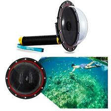 Underwater Diving Camera Lens Dome Port Shell Cover+ Grip for GoPro Hero 3/3+/4