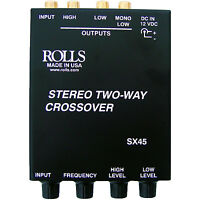 Rolls Sx45 Stereo Two-way Mini Crossover W/sub Output on sale