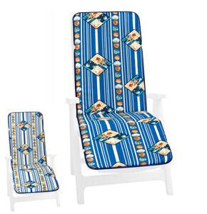 Cushion Sdeckchair Armchair Foldable Soft Cover Sun Bed Garden Shells