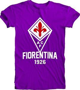 ACF Fiorentina Italy Italia Serie A Europe Soccer T-SHIRT Maglietta Team Sports