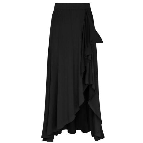 e donna estivo con asimmetrica elastico lungo vita elasticizzata in Boho gonna da Vestito Zqwv5Ifxt5