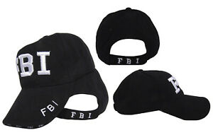 FBI Federal Bureau of Investigation FBI Seal Logo Embroidered Hat Black Cap