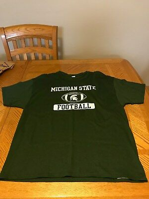 Fan Apparel & Souvenirs Latest Collection Of Michigan State University Spartans Dri-fit Shirt Ncaa T-shirt Jersey Xl Modern Techniques College-ncaa