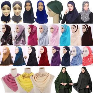 Damen Muslim Hijab Islam Turban Hut Mütze Kopftuch Kopfbedeckung