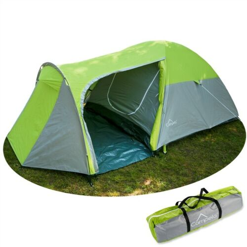 Familienzelt Zelt 3 Personen Campingzelt Tunnelzelt CA0012Grn Gruppenzelt NEU