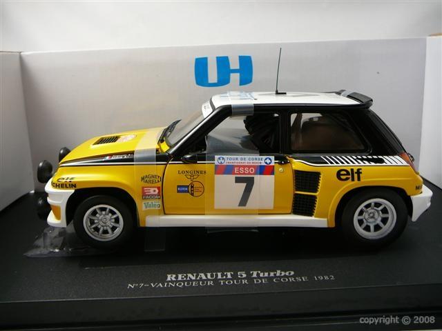 RENAULT 5 Turbo n°7 Winner Tour de Corse  1982  UNIVERSAL HOBBIES 1 18