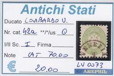 ANTICHI STATI - LOMBARDO VENETO - LV0073 - NR. 42a USATO - CATALOGO 70€