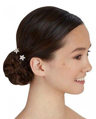 Capezio Women/'s Star Hair Pin Silver Clear One Size ABH4012
