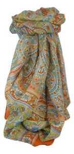 à Condition De Classique Paisley Long Foulard Mulberry Silk Chia Marigold Par Pashmina & Soie Soyez Astucieux Dans Les Questions D'Argent