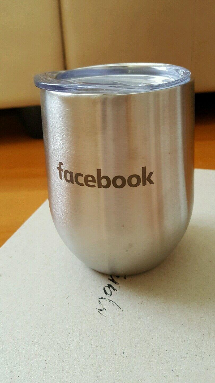 Official Facebook Double Paroi 12 oz (environ 340.19 g) Acier Inoxydable Tumbler isotherme Tasse Voyage