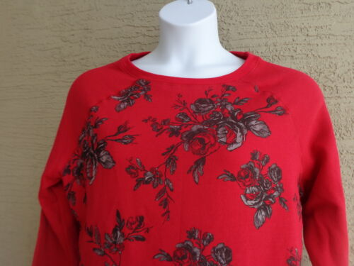 New Just My Size 2X Graphic 50//50 Blend Cozy Lighter Weight Sweatshirt Red