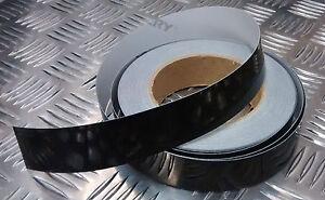 veritable-britannique-mod-Strip-marquage-noir-reflechissant-auto-adhesif-tout