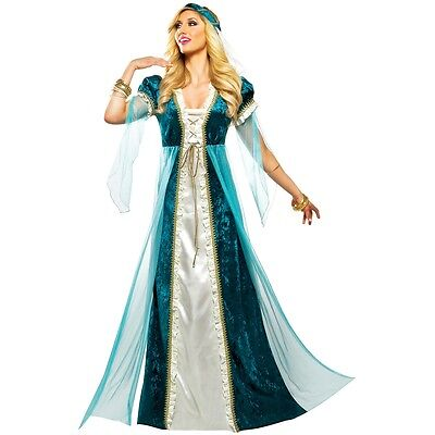 Emerald Juliet Costume Adult Halloween Fancy Dress