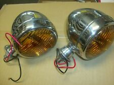 VINTAGE FOG LIGHTS TEAR DROP STYLE STAINLESS STEEL  12volt CAR & TRUCKS