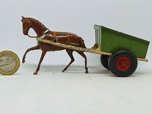 Britains-54mm-post-war-cast-lead-40f-farm-cart-with-rubber-tyres
