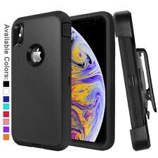 Para Apple iPhone XR Xs Max Funda Con Clip Para Cinturón | Se ajusta Otterbox DEFENDER SERIES
