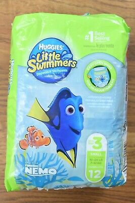 Huggies Little Swimmers Little Mermaid 27 Count Size Small 16-26 lbs.