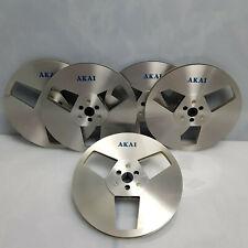 "AKAI ATR-7M Metal Reel 7"" Reel to Reel Tape Reel Recording Tape 7 inch 18cm+Case"