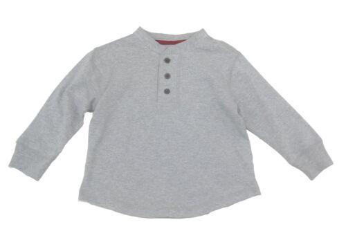 New Shirt Boys Tee t Long Sleeves Cotton Henley Size 4 5 6 7 3 Button Crew Neck