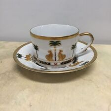 Christian Dior Casablanca Cups and Saucers Set of 12 Preowned