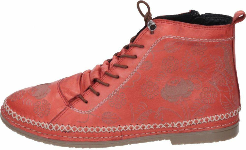 Manitu Damen Schuhe Rot Schuhe Leder 991382-4