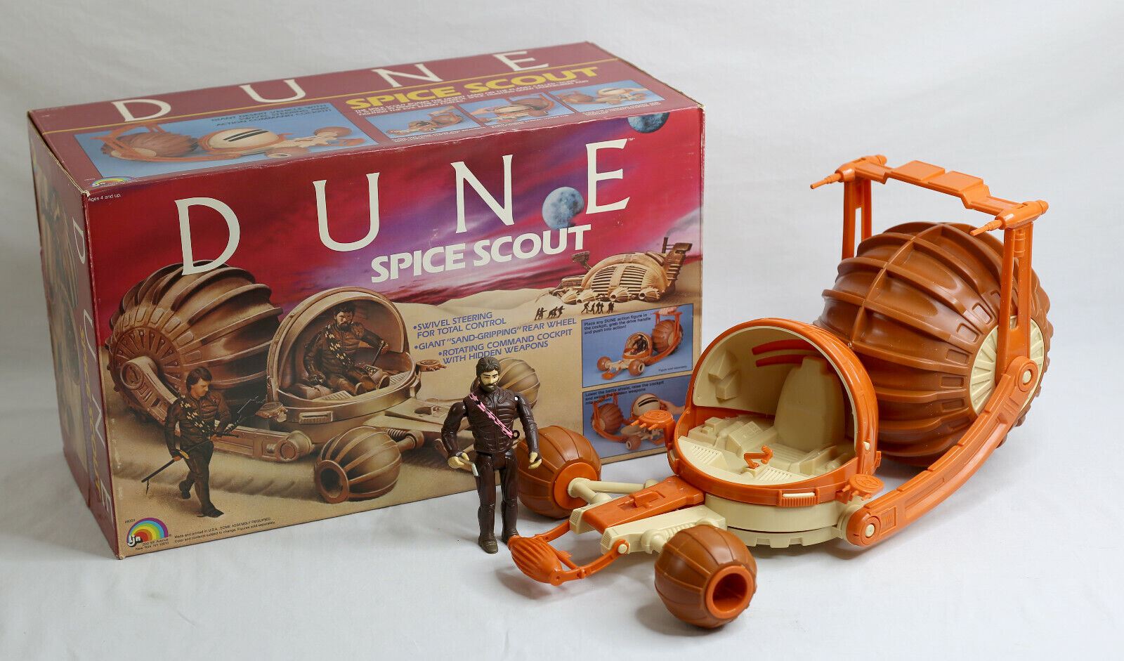 Duna 1984 LJN Spice Scout vehículo sin usar, en Caja 100% Completo Casi Como Nuevo De Colección