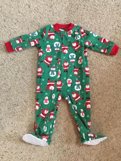 3242d47dc Buy Carter s Footed Pajamas 12 Months Holiday Christmas Santa ...