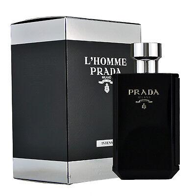Prada l`Homme Intense 100ml Eau de Parfum Spray Neu & Originalverpackt