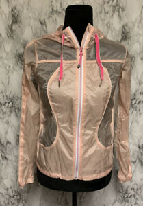 Lululemon-Size-2-Pink-Hooded-Wind-Breaker-Rain-Jacket