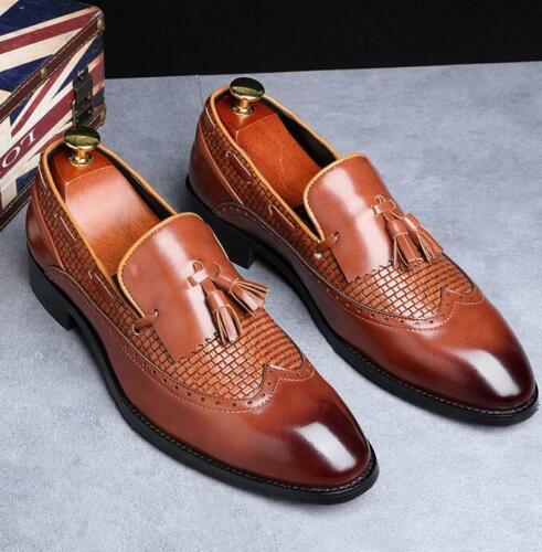 PLUS SIZE Men/'s Tassel Slip On Loafers Wingtip Casual Shoes Formal Dress Oxfords