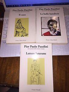 Pasolini 3 Libri Le Belle Bandiere Lettere Luterane Il Caos Un