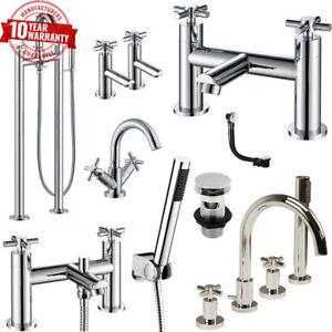 Crosshead-Style-Modern-Chrome-Bathroom-Taps-Variation-Basin-Bath-Freestanding